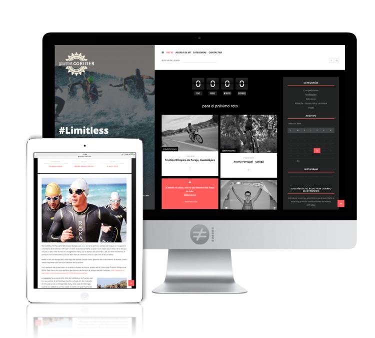 Diseño Blog Deportivo Gourmet Rider