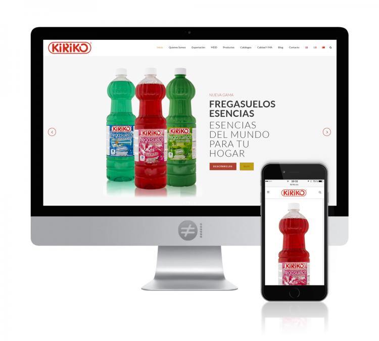 Diseño Catálogo Virtual KIRIKO