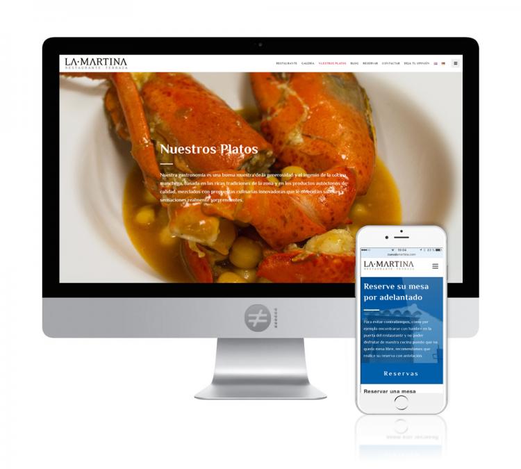 Diseño Web Restaurante Cueva La Martina