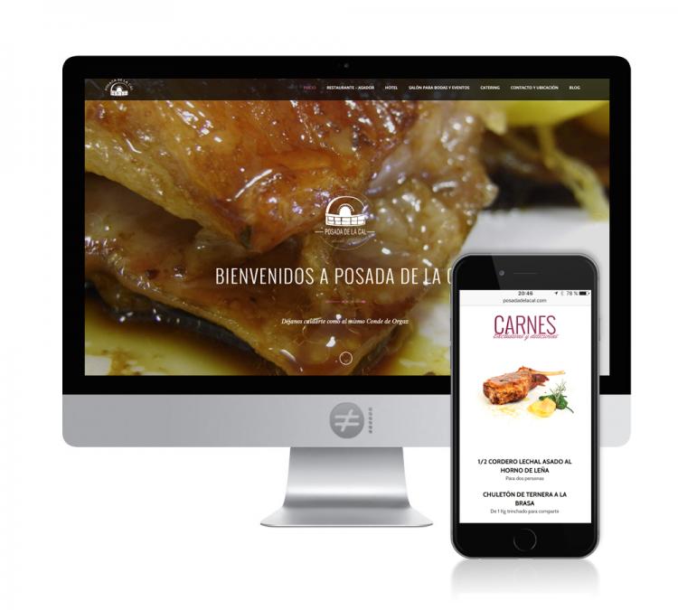 Diseño Web Hotel Restaurante La Posada de la Cal