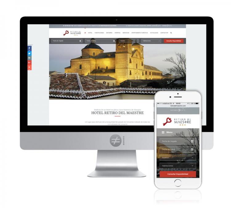 Diseño Web Alojamiento Hotel Retiro del Maestre