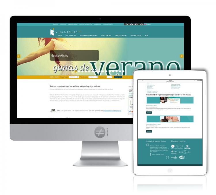 Diseño Web Página Hotel Villanazules