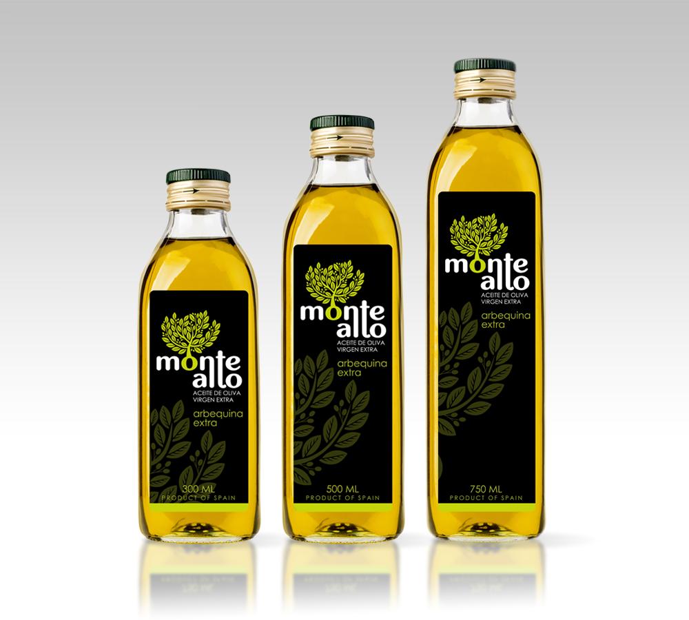 Diseño etiqueta Aceite de Oliva Monte Alto